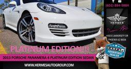 2013 Porsche Panamera 4 Platinum Edition Sedan