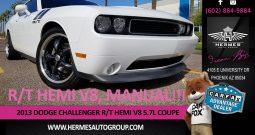2013 Dodge Challenger R/T HEMI V8 5.7L Coupe – MANUAL